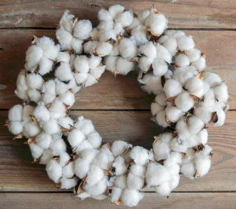 "12"" Faux Cotton Wreath"