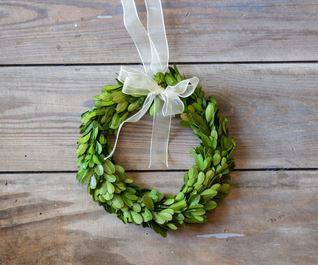 Preserved Boxwood Wreath, 8""