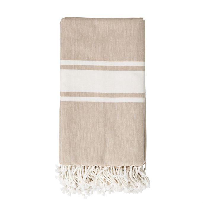 Neutral Fringe Throw