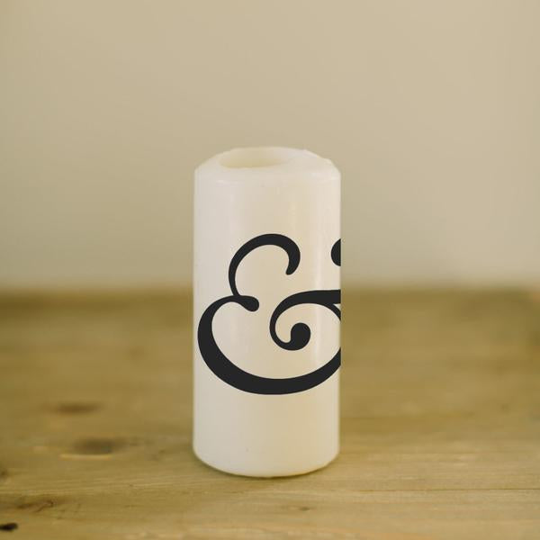 Ampersand Candle, 6""
