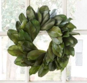 Preserved REAL Magnolia Wreath-18""