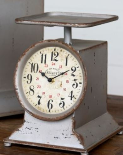 Small Vintage Grocery Scale Clock