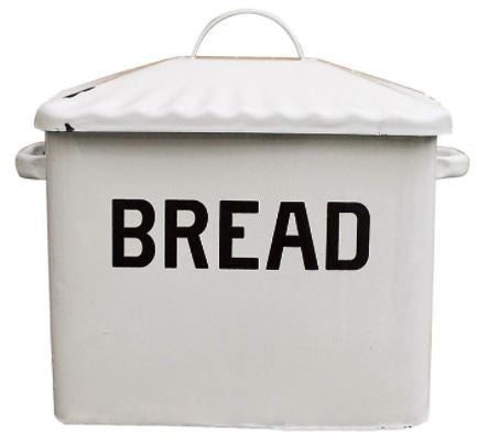 Large Enamel Bread Box