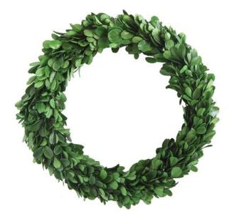 "Round Preserved Boxwood Wreath (9 3/4"")"