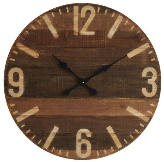 Farmhouse Wood Wall Clock