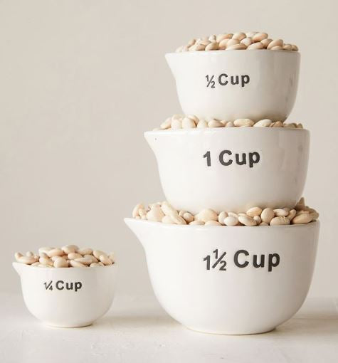 Stoneware Measuring Cups (Set of 4)
