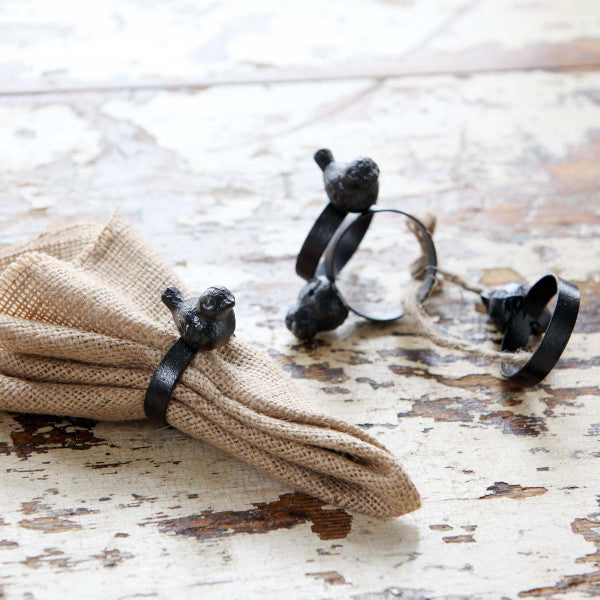 Bird Napkin Rings (Set of 4)