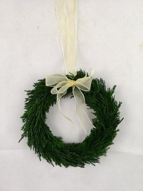 Preserved Emerald Cypress Wreath, 8""