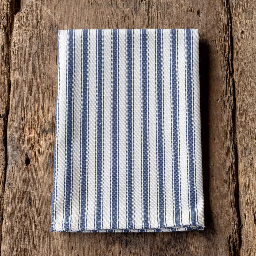 Navy Ticking Cloth Napkin