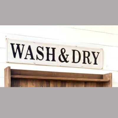 "Huge ""Wash & Dry"" Metal Sign"