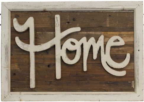 """Home"" Chippy Wall Sign"