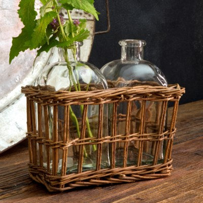Double Willow Tonic Bottle Vase Set
