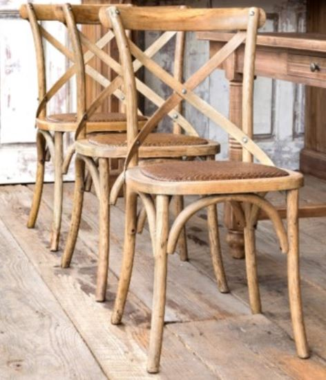 Wooden Cross Back Chairs (STORE PICKUP ONLY)