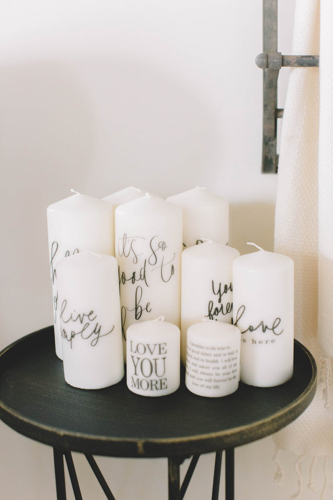 Love You More Candle, 3""
