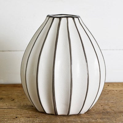 Stripe Bulge Vase