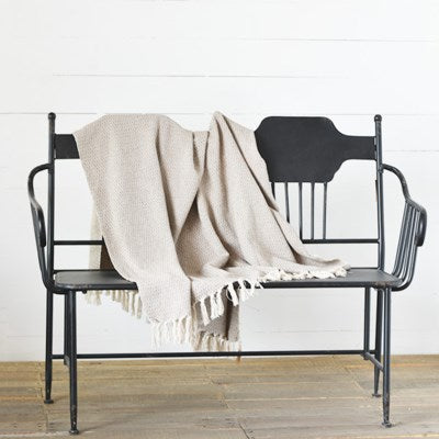 Neutral Beige Throw