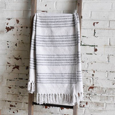 Stripe Gray Throw