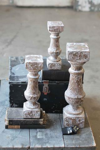 Distressed Candle Holder