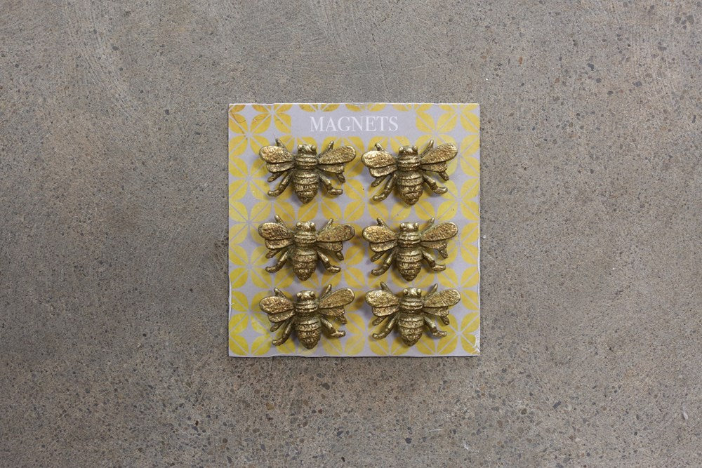 Pewter Bee Magnets on Card (Set of 6)