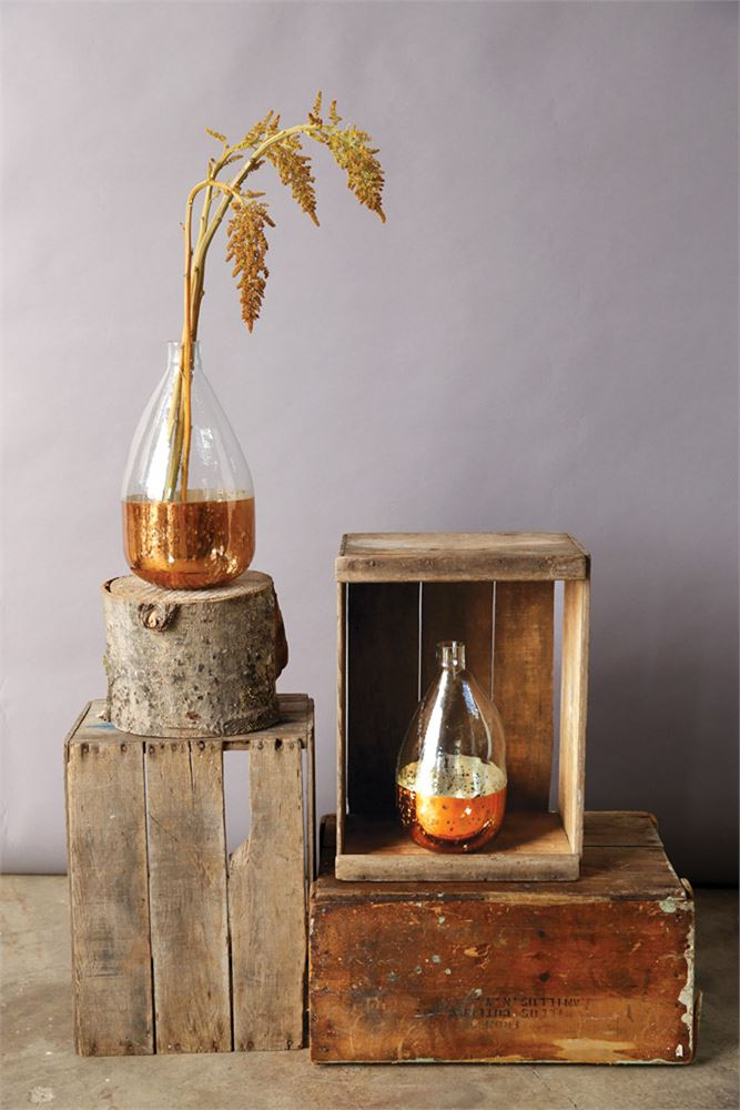 Copper Glass Balloon Vase (In Store Only)