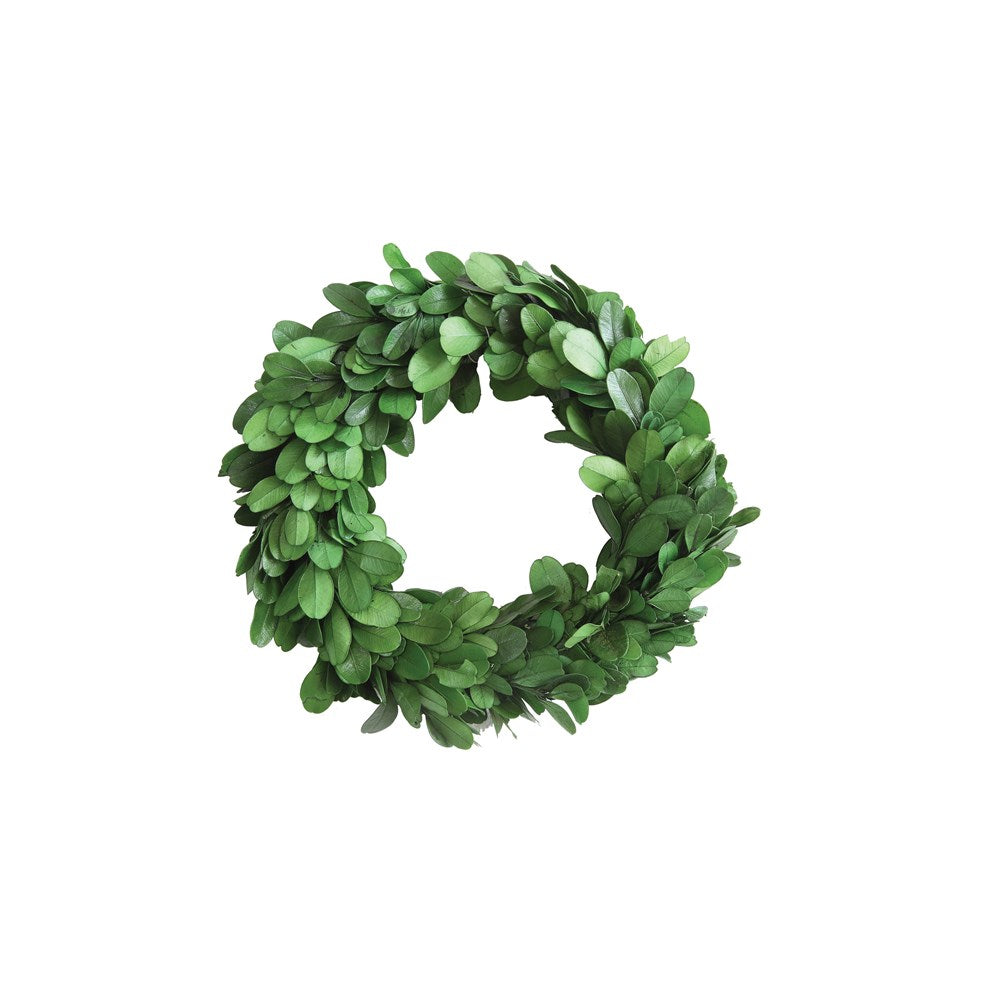 "6"" Round Preserved Boxwood Wreath"