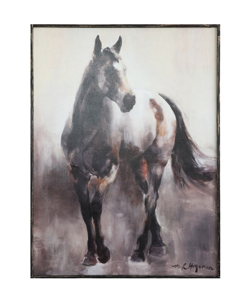 Wooden Framed Horse Canvas