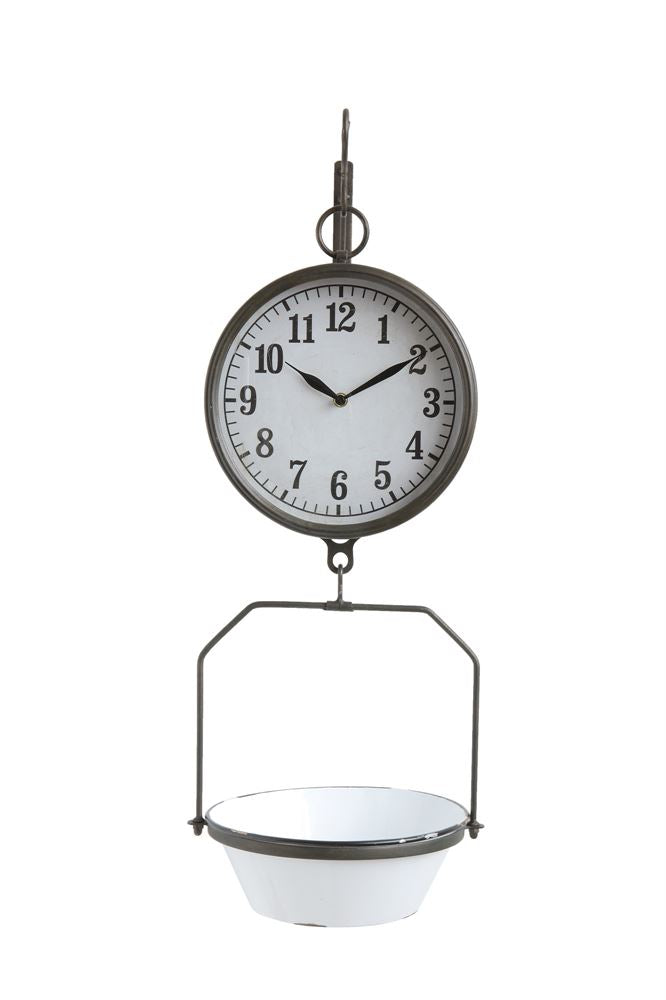 Vintage Inspired Enamel Clock Scale