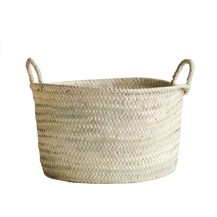 Hand-Woven Moroccan Basket (In-Store Pickup Only)