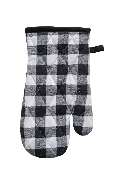 Black/White Gingham Hot Mitt