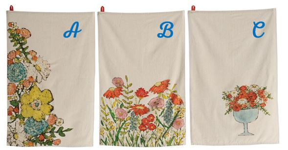 Summer Flowers Tea Towel
