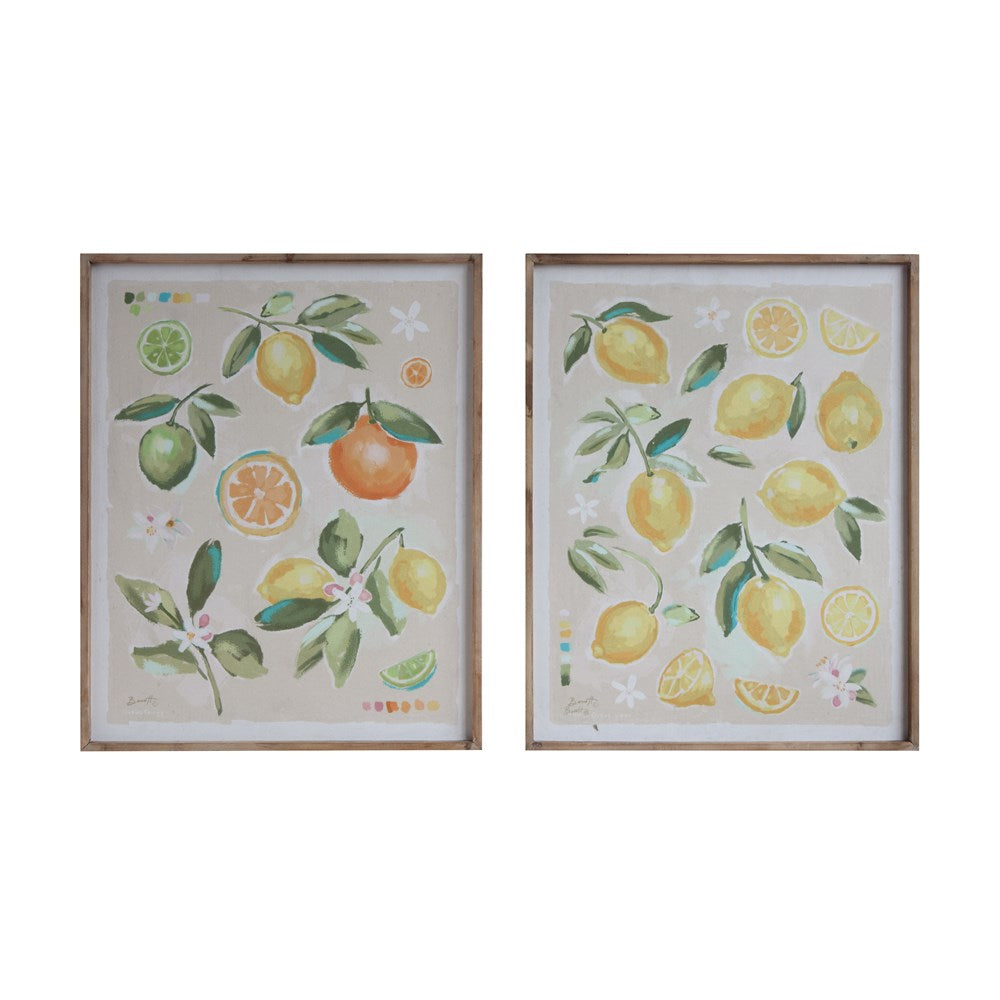 Wood Framed Citrus Fruit Print