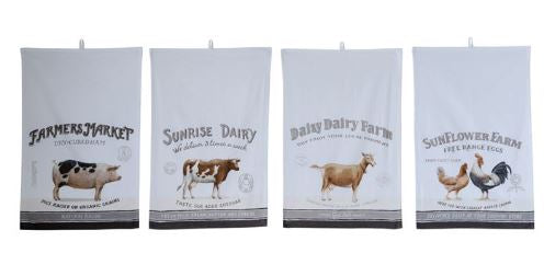 Vintage Farm Tea Towel