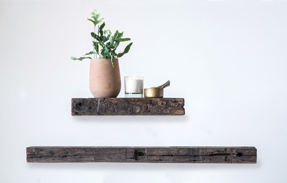 "Reclaimed Wood Wall Shelf, 20"" L"