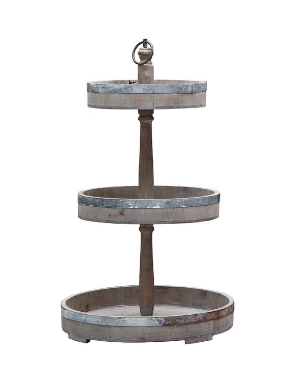 Wood & Metal Tray Tower