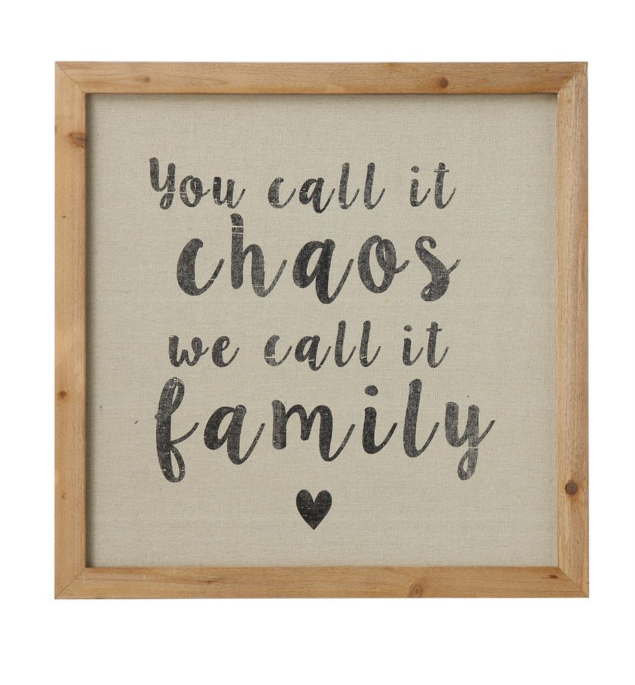 """Chaos"" Wooden Sign"