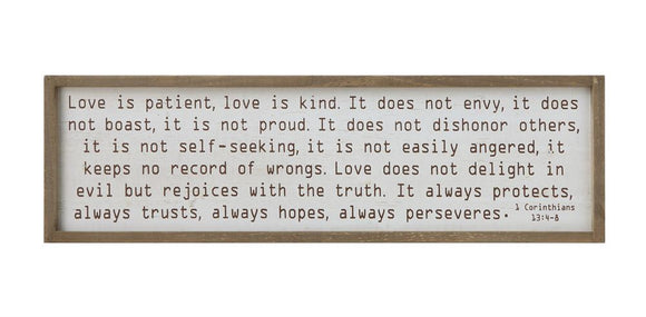 Love is Patient... Wooden Sign