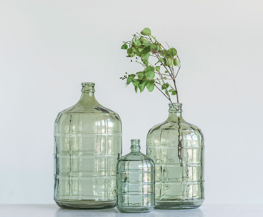 Glass Vintage Reproduction Bottle (Green)