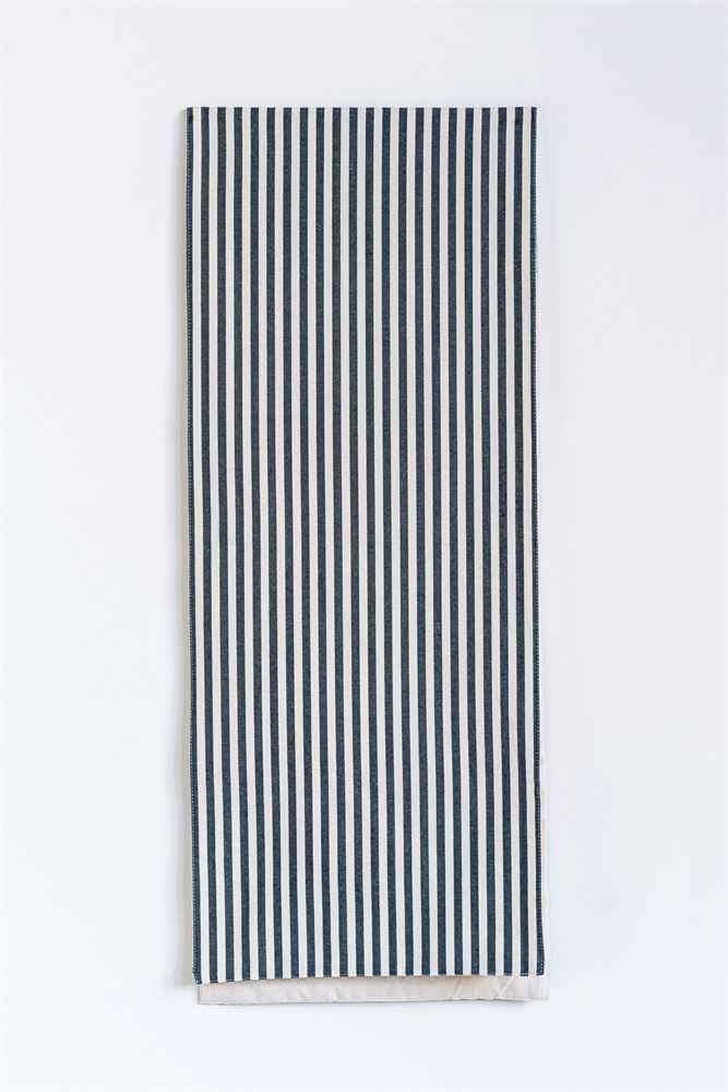 Black Multi Striped Table Runner
