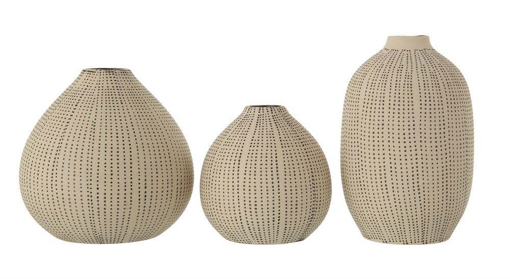 Stoneware Textured White/Black Vase (3 sizes)