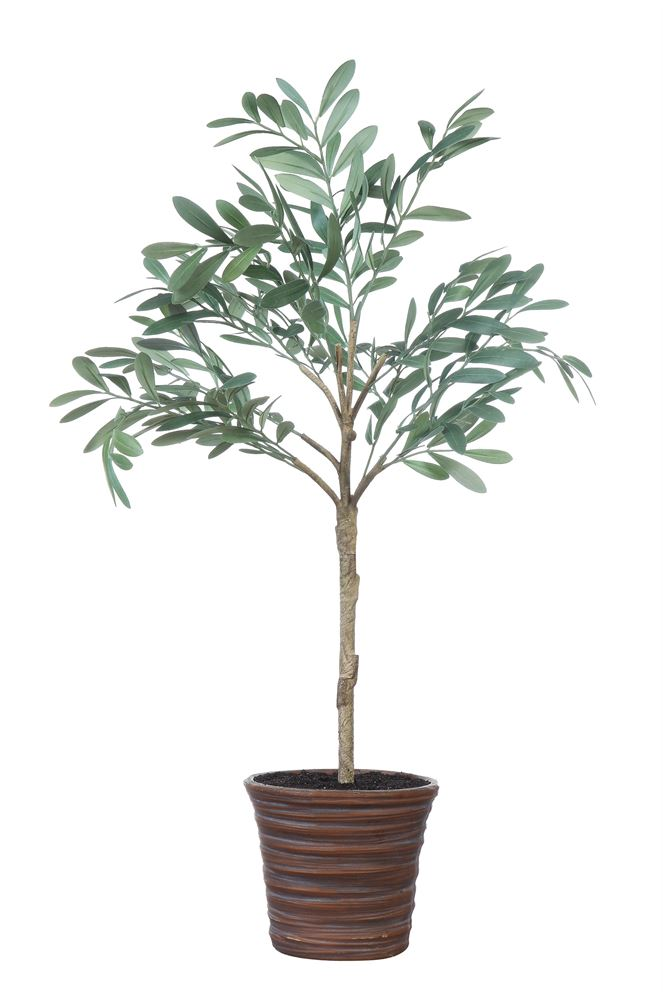Potted faux Olive Topiary (Store Pickup Only)
