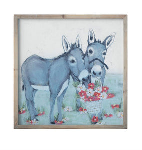 Spring Donkey Framed Artwork