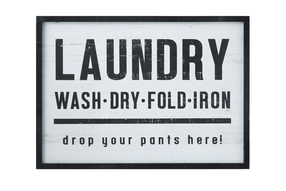 Wood Framed Laundry Sign (Store Pickup Only)