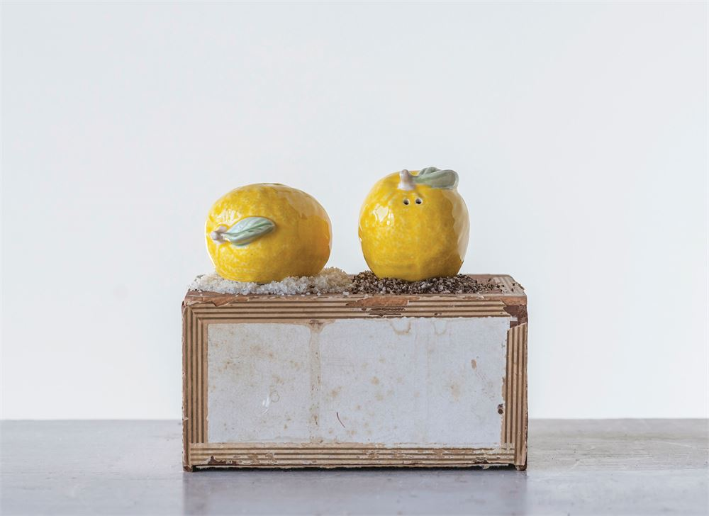 Lemon Salt & Pepper Shakers