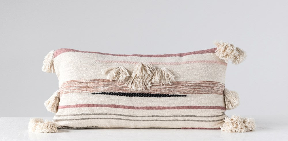Cotton Kilim Lumbar Pillow