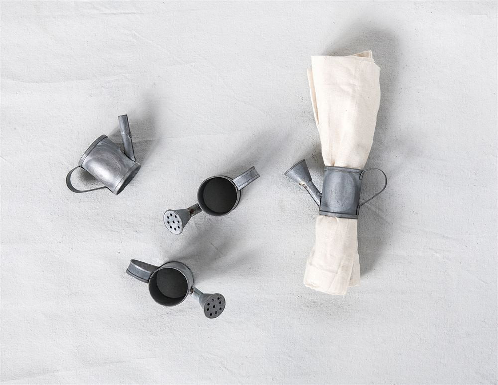 Watering Can Napkin Rings (Set of 4)