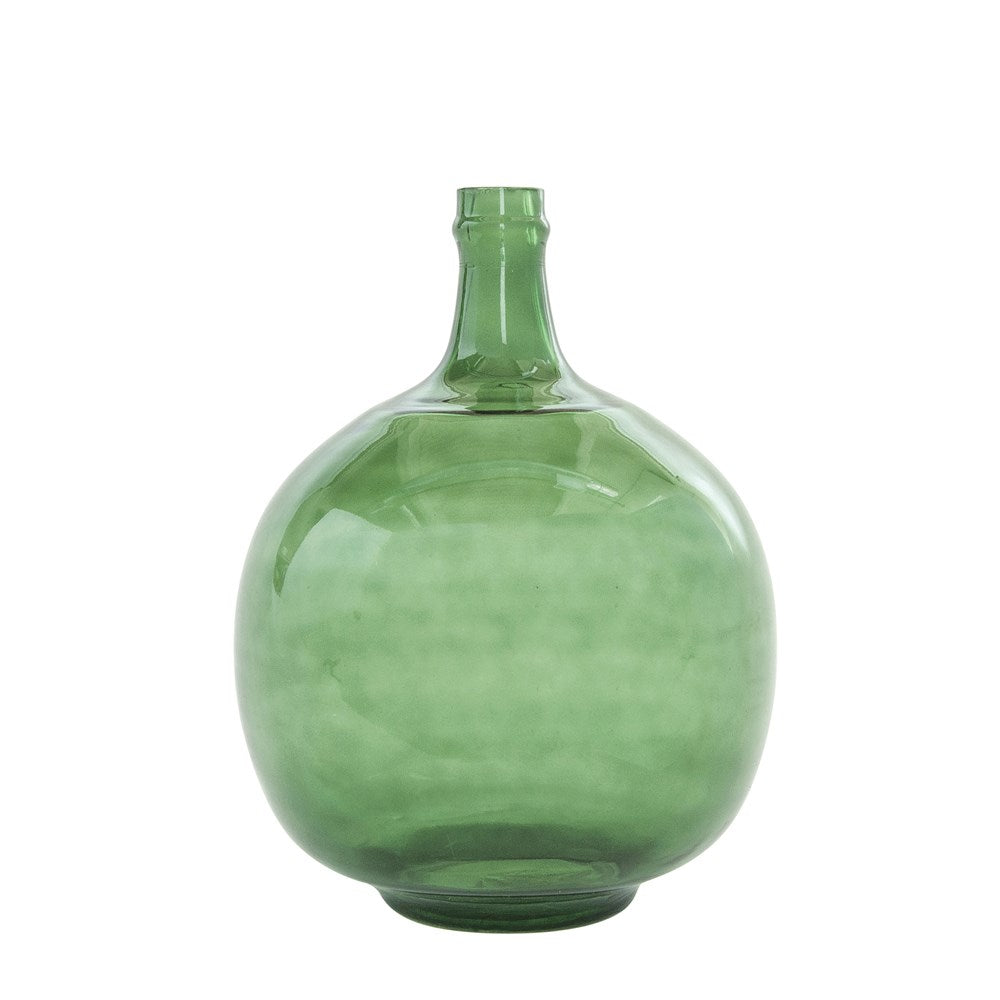 Vintage Green Reproduction Glass Bottle