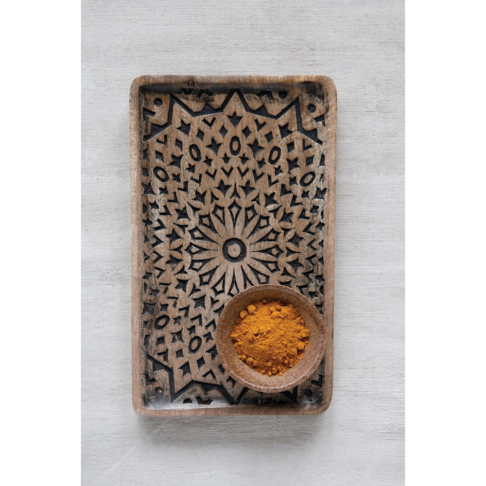 Hand Carved Mango Wood Tray