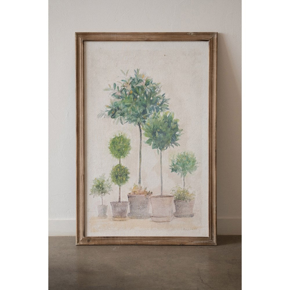 Topiary Wood Framed Wall Print (In Store Pickup Only)