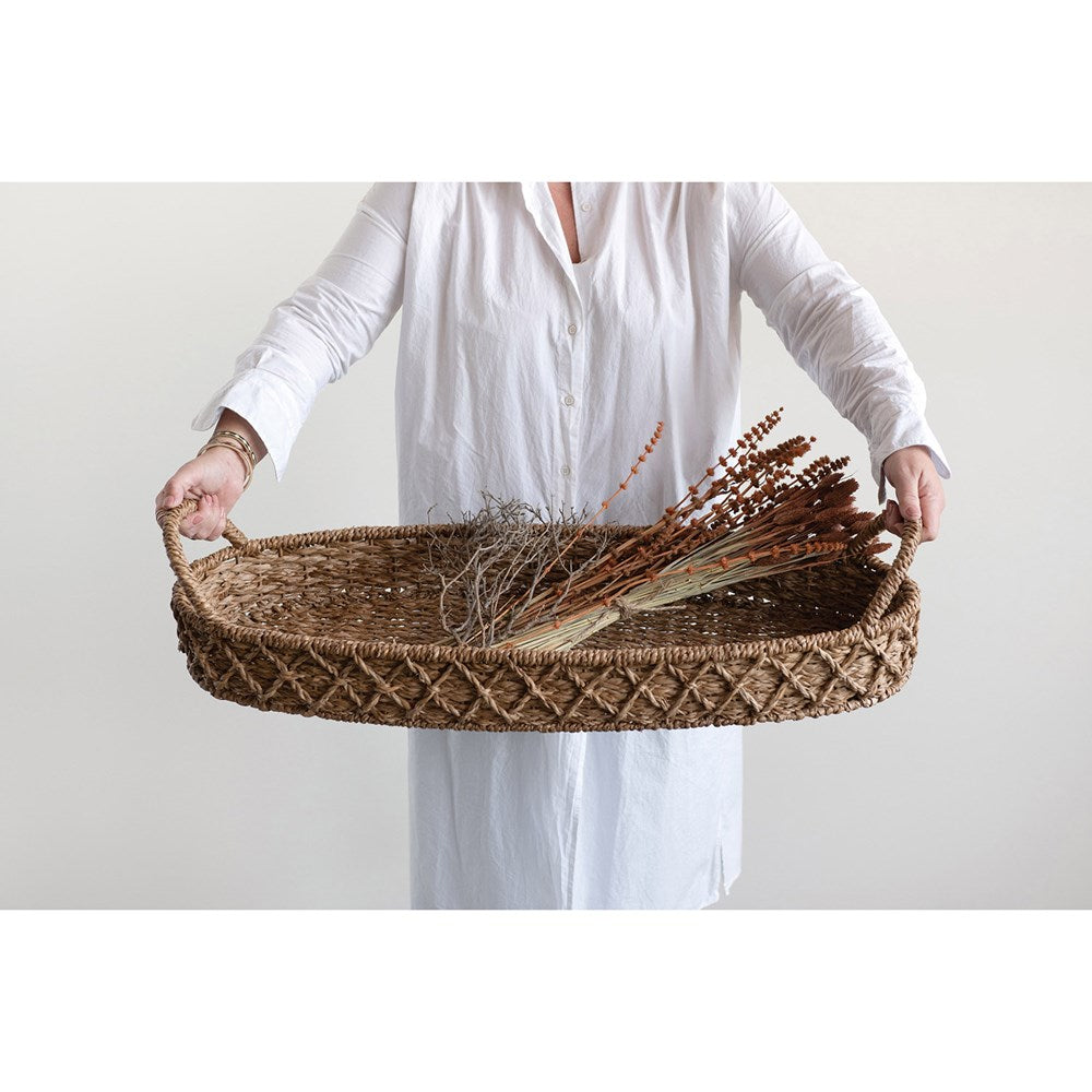 Extra Large Woven Seagrass Oval Tray