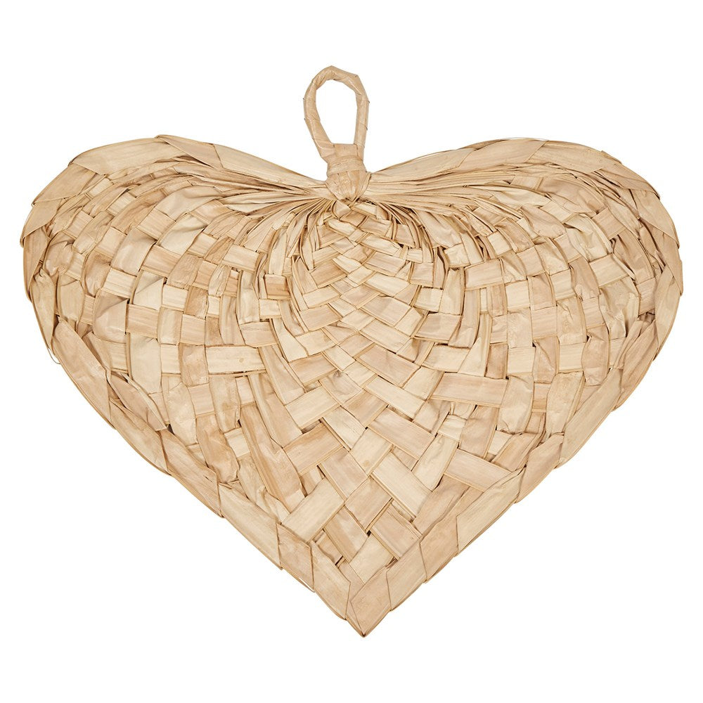 Hand-Woven Palm Heart Shaped Fan